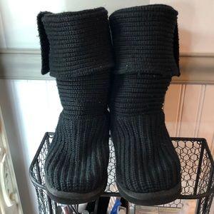UGG Australia- Knitted Black Boot